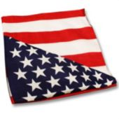"American Flag 22"" Cotton Bandanas - 12 Pack"