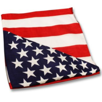 "American Flag  22"" Cotton Bandanas"