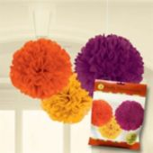 "Fluffy Fall 16""  Decorations - 3 Pack"