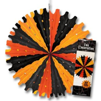 Black & Orange  Tissue Fan