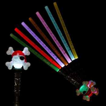 Multi-Color LED Pirate Skull Sword - 30 Inch