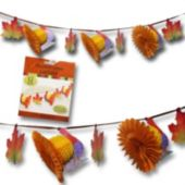 Turkey Honeycomb Fall Leaf Garland