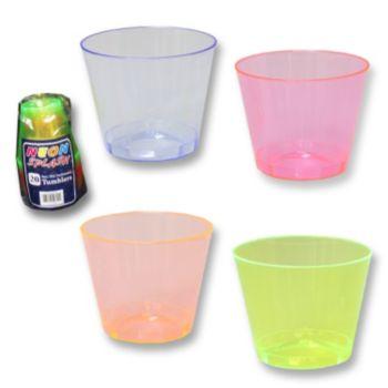 Neon Plastic  9 oz. Tumblers