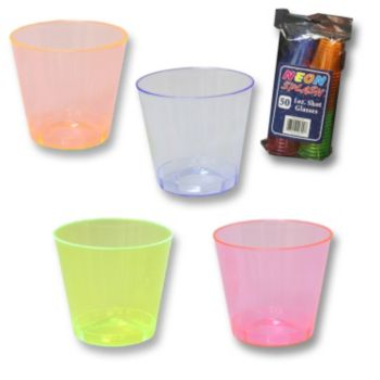 Neon  Plastic 1 oz.  Shot Glasses