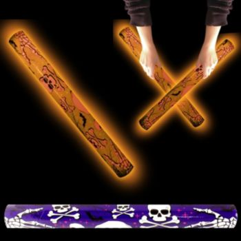 Orange Skull and Crossbones LED Lumiton - 16 Inch