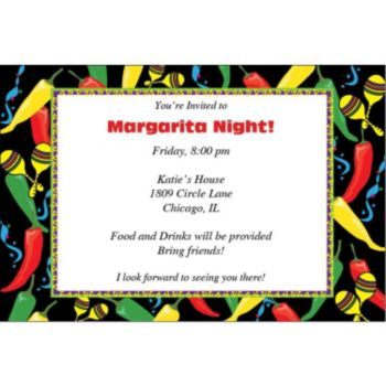 Fabulous Fiesta Personalized Invitations