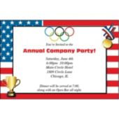 American Flag Medal Personalized Invitations