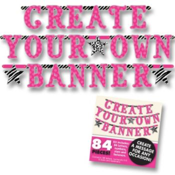 Zebra Pink   Custom Banner Kit