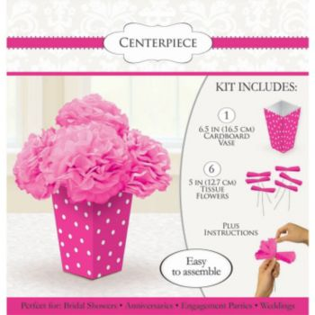 Pink Peony Polka Dot  Centerpiece Kit