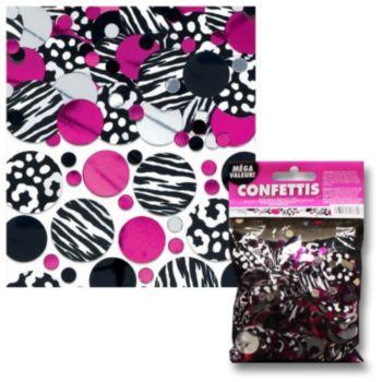 Zebra Pink  Confetti Value Pack