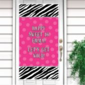 Zebra Pink Door Decorating Kit