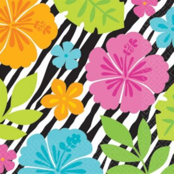 Wild Hibiscus Lunch Napkins