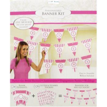 Pink Dots & Stripes  Custom Banner Kit
