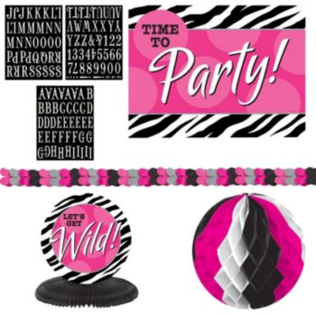 Zebra Pink   Decorating Kit