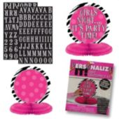 Pink Zebra Print Custom Centerpiece Kit