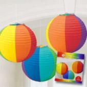 Rainbow Paper Lanterns-3 Per Unit