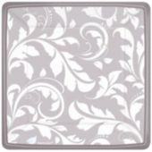 "Silver Elegant 7"" Square Plates - 8 Pack"