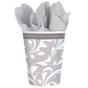 Silver Elegant  9 oz Cups