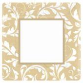 Gold Elegant 10 Inch Square Plates