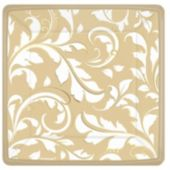 "Gold Elegant 7"" Square Plates - 8 Pack"