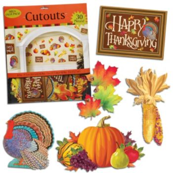 Thanksgiving Cutout  Decoration Value Pack