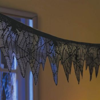 Black Spider  Lace Garland