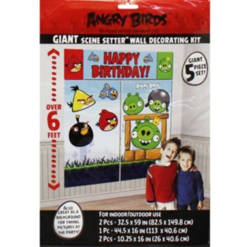 Angry Bird Birthday  Scene Setter Kit