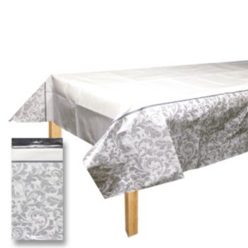 Silver Elegant   Paper Table Cover