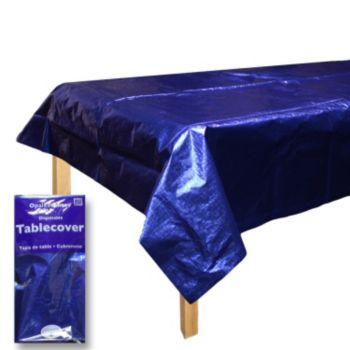 Blue Metallic  Table Cover