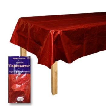 Red Metallic  Table Cover