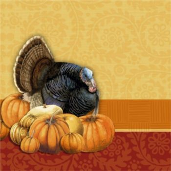 Thanksgiving Harvest  Beverage Napkins