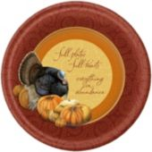 "thanksgiving Harvest 10"" Plates"