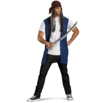 Pirates Of The Caribbean - Captain Jack Sparrow Adult Costume Kit