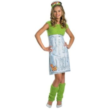 Sesame Street - Oscar the Grouch Tween Costume