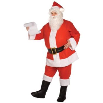 Budget Complete Santa Suit Adult Costume
