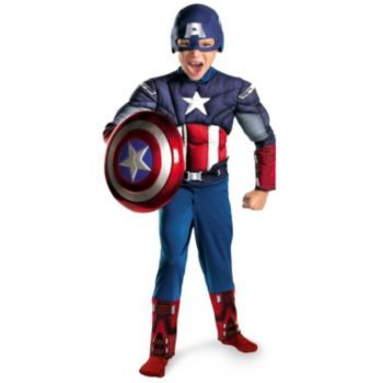 The Avengers Captain America Classic Muscle Chest Toddler Costume