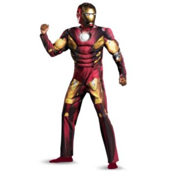 The Avengers Iron Man Mark VII Muscle Adult Costume