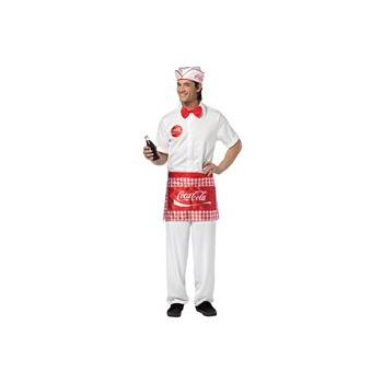 Coca-Cola - Soda Jerk Man Adult Costume