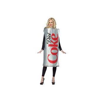 Coca-Cola - Diet Coke Can Adult Costume