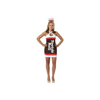 Tootsie Roll Teardrop Dress Adult Costume
