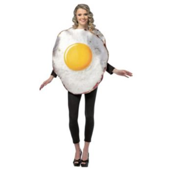 Fried Egg Adult Cotume