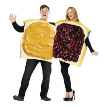 Peanut Butter And Jelly Couple Adult Costume (OOS)