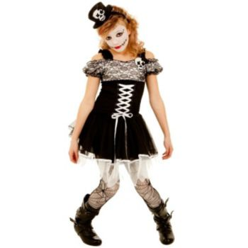 Shea the Skull Girl Tween Costume