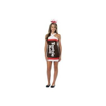 Tootsie Roll Teardrop Dress Teen Costume