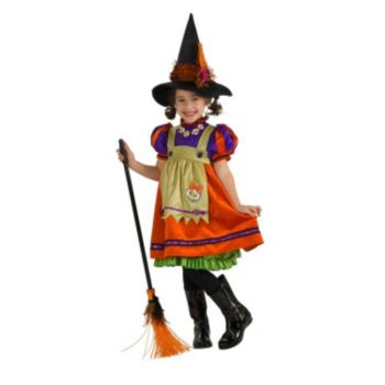 Orange Witch Child Costume