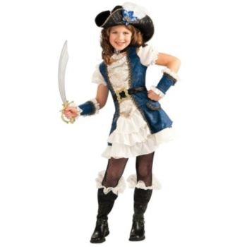 Blue Pirate Girl Child Costume