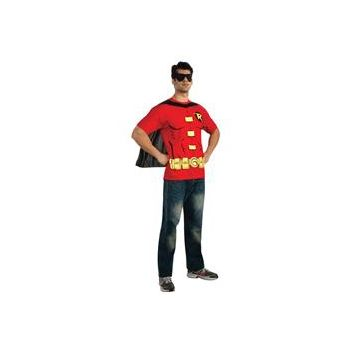 Robin (Male) T-Shirt Adult Costume Kit