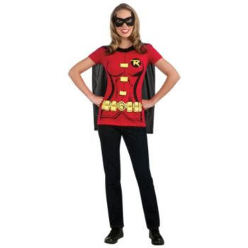 Robin (Female) T-Shirt Adult Costume Kit