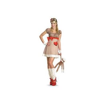 Ms. Sock Monkey Deluxe Adult Costume