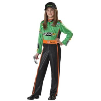 NASCAR Danica Patrick Plus Child Costume